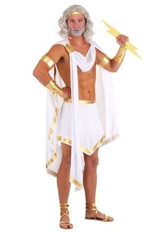 Dress as the most powerful god on Mount Olypmus, the King of the Gods and the Sky, the god Zeus, in this classic Men's Zeus Costume. Officially made by us, and embellished with metallic detailed trim to exhibit pure godliness. Unique Costumes, Adult Costumes, Turtle Costumes, Woman Costumes, Pirate Costumes, Couple Costumes, Princess Costumes, Group Costumes, Plus Size Halloween