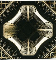 marthagallen: Looking up at Eiffel Tower, Paris, France (lith print) by Martins Photo Scrap Book