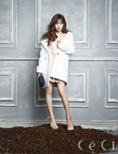 Girls Generation's Taeyeon Wears A Pure White Dress For 'CeCi' Magazine [PHOTOS] : Photos : KpopStarz