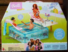 Happy Family Splash N Slide Pool Playset Only For Barbie Ken Doll Midge Alan