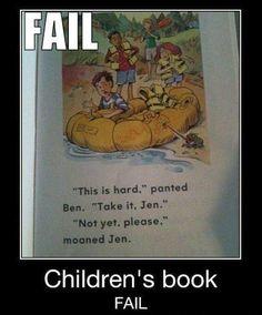 Children's book fail