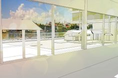 Student Dormitory for Casablanca, View to Havana, Project by Corey Mills, Fall 2013 BAC Long Studio in Cuba. #architecture