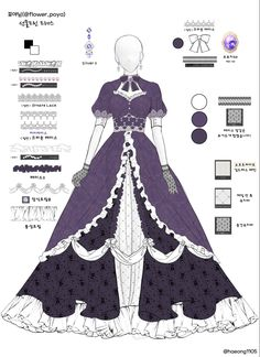 Dress Design Drawing, Dress Drawing, Kleidung Design, Old Fashion Dresses, Drawing Anime Clothes, Fantasy Gowns, Anime Dress, Dress Sketches, Fashion Design Drawings