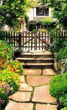 Garden pathway and gate.........
