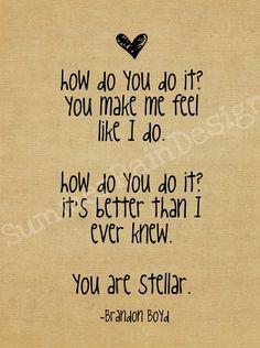 "Incubus. One of my favorite songs ""Stellar."""