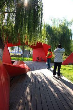 Shanghai Houtan Park by Turenscape:
