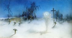 Artist Witold Pruszkowski, and the painting named Eloe, Muzeum Narodowe, Wrocław Poland Winter Light, Poster Prints, Art Prints, Realism Art, Winter Solstice, Photo Illustration, Illustrations, Fresco, Online Printing