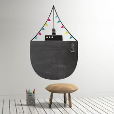 BLACK & WHITE FOR BOYS - chalkboard paint