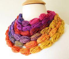 Pompom Crochet Lariat Necklace