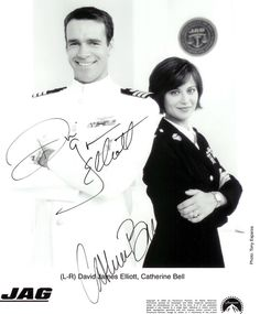 DJE & CB autograph serie JAG David James Elliott, Catherine Bell, Army Wives, Semper Fi, Hallmark Movies, Old Tv, Ncis, Cassie, Favorite Tv Shows