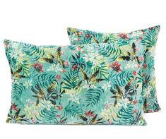 3 coloris disponibles - Harmony - Housse de coussin en velours Jungle - 45x45 cm - Home Beddings and Curtains