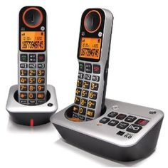 GE Easy to Use Amplified Cordless Dual Handset Speakerphone with Caller ID and Digital Answering System (30542EE2) (Office Product)  http://www.amazon.com/dp/B004YJR7MM/?tag=goandtalk-20  B004YJR7MM