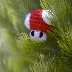 Mini Mario Mushroom by Amy Dianna, via Flickr. He would be sweet on the Christmas tree!