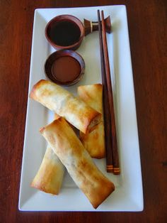 Food before 5: Baked spring rolls