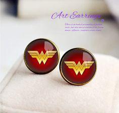 Wonder Woman Earrings, Bronzen Earring , women Earrings, Stud earrings, Unique Earring for Woman on Etsy, $10.99
