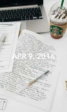 April 9, 2016 Studying psych after realizing that I have both the APES and AP Psych exams on the same day. RIP. Treated myself to a Starbucks frappicino to cope with the news lmao. IG: delphinestudies