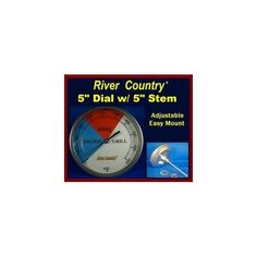 5 River Country (RC-T5L) Adjustable BBQ Grill Thermometer 50 to 550 F w/ 5 Stem