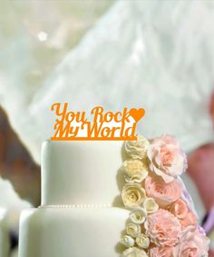 Personalised Wedding Cake Topper Mr & Mrs, Custom Name Heart, Message, Date
