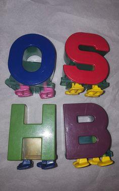 VTG 4 O S H BBig Bird Blunder proof Walking Letter Alphabet Sesame Street Spell