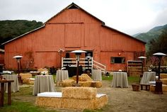 Farm Chic - love it!  When we have a farm one day, I will host a party in this setting.