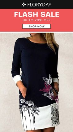 Floral round neckline shirt dress, floral dress, fashion, limited supply.