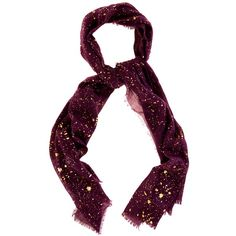 Oasis Metallic Foil Scarf, Burgundy ($32) ❤ liked on Polyvore