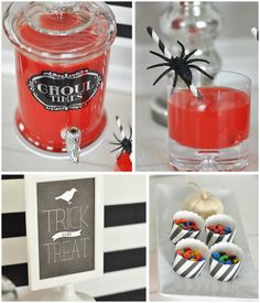 Halloween Dessert and drink table #SpookyCelebration #shop #cbias