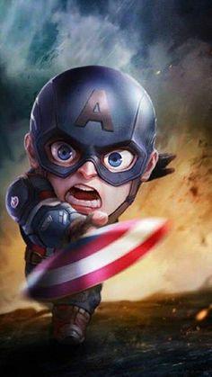 Avengers Live, Avengers Cartoon, Baby Avengers, Captain America Images, Captain America Wallpaper, Chibi Marvel, Marvel Art, Hulk Marvel, Marvel Heroes