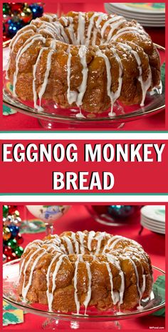 can you imagine the look on their faces when you bring out this eggnog monkey bread