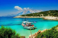 Samiopoula Islet next to Samos Island - Wonderful Greece Samos Greece, Costa, Visit Cyprus, Greek Sea, Exotic Beaches, Greece Islands, Turquoise Water, Greece Travel, Amazing Destinations