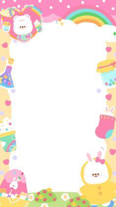 Bear Wallpaper, Wallpaper Iphone Cute, Cute Pink Background, Instagram Frame Template, Printable Scrapbook Paper, Photo Collage Template, Cute Frames, Cute Patterns Wallpaper, Book Cover Art
