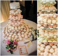 "wedding cake on top; ""cupcakes cheap"""