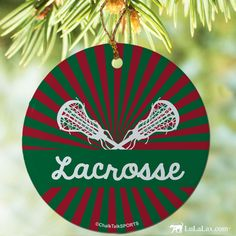 Laxify your Christmas with this Lacrosse ornament!