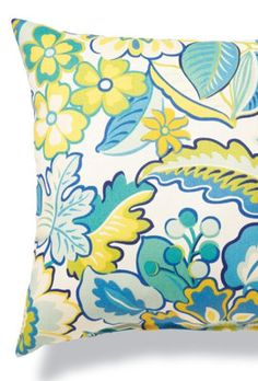 Floral Honeydew Outdoor Pillow.