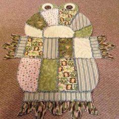 Frog rag quilt I made.