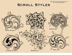 Scroll styles 【 Thanks for following! 】 . . #engraver #engraving #engraved #handengraver #handengraving #handengraved #masterengraver #scroll #scrollwork #ornamental #tattoodesign #tattooflash #artwork #tattooing #design #carving #art #artist #gunengraving #handcrafted #handmade #draw #drawing #metalwork #jewelry #jewellery #rings #gold #silver #platinum ©Copyright 2017 Sam Alfano-MasterEngraver.com