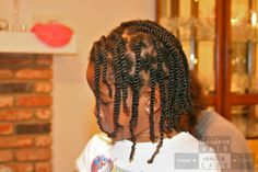 Pinch part two-strand twists: easy style for girls AND boys #naturalhair