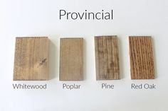 How 10 Different Stains Look on Different Pieces of Wood - Within the Grove Stain can easily change color depending on the wood you're using. We tested 10 different stains, light to dark, on 4 different pieces of wood to show you. Stain On Pine, Dark Walnut Stain, Walnut Wood, Wood Stain Colors, Grey Stain, Paint Colors, Staining Cabinets, Cabinet Refinishing, Bleached Wood