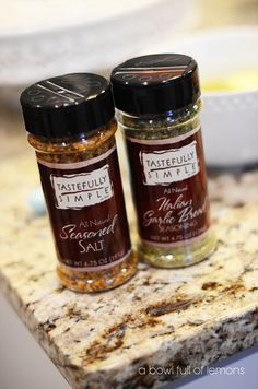 Seasoned  salt is simply amazing on Fish, hamburgers, steaks and so much more. With a side of beer bread toasted with Italian garlic Yummy!