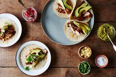 These fresh & easy summer dinner ideas are perfect for quick weeknight meals and laid-back backyard parties alike. Get these tasty summer dinner recipes here! Grilled Chicken Tacos, Chicken Taco Recipes, Chicken Flavors, Chicken Salad, Quick Pickled Onions, Sandwiches, Cooking Recipes, Healthy Recipes, Savoury Recipes