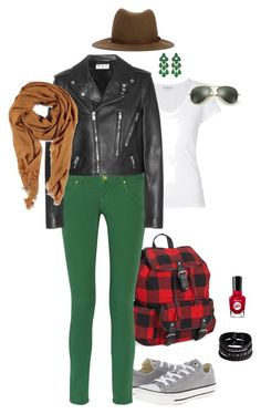 """""""10-2"""" by sungin-cho on Polyvore featuring Converse, Aéropostale, James Perse, M Missoni, Yves Saint Laurent, Replay, Siman Tu, Sally Hansen, Ray-Ban and rag & bone"""