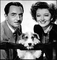 Nick, Nora and Asta ... The Thin Man movies ... great dialogue, outstanding fashion ... what a hoot.