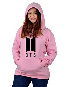 Buy More & More Unisex Regular Fit BTS Printed Cotton Hoodie (BTS;Pink;XL) at Amazon.in