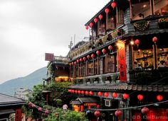 Teahouse, Jiufen - Planning a trip to Taiwan. Jiufen is a must go for me. Who knew Hayao Miyazaki's Spirited Away was based on a real town in Taiwan??
