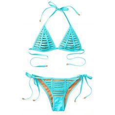 Beach Bunny Hard Summer Skimpy Bottom Turquoise (£94) ❤ liked on Polyvore featuring swimwear, bikinis, bikini bottoms, bikini, turquoise bikini, beach bunny, beach bunny swim wear, aqua beachwear and bikini bottom