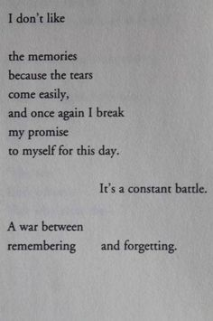 Breaking Up and Moving On Quotes : Remembering or forgetting?