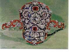 Jewelled and enamelled armband. Iranian Crown Jewels