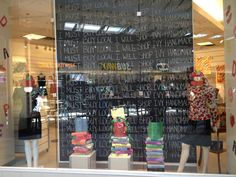 Back to school window for Ivy Handmade Industries in Windsor, ON.