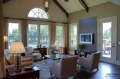 Keeping room with exposed beams, large windows, and plenty of natural light. Woodmont   Canton, Georgia   Atlanta Home Builder   John Wieland Homes and Neighborhoods