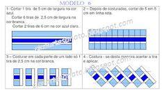 Cice Artesanato: Seminole - Modelo 6 Tutorial Patchwork, Patchwork Patterns, Quilt Patterns, Quilting Tips, Quilting Tutorials, Rag Quilt, Quilt Blocks, Seminole Patchwork, Quilt Border